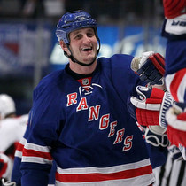 Derek Boogaard Celebrates with teammates