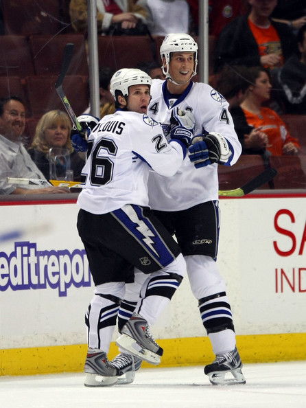Vincent Lecavalier and Martin St. Louis